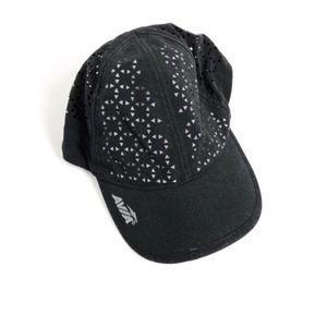 Avia Laser Cut Black and Gray Baseball Hat OSFM